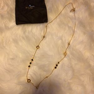 Kate spade spot the spade long necklace black